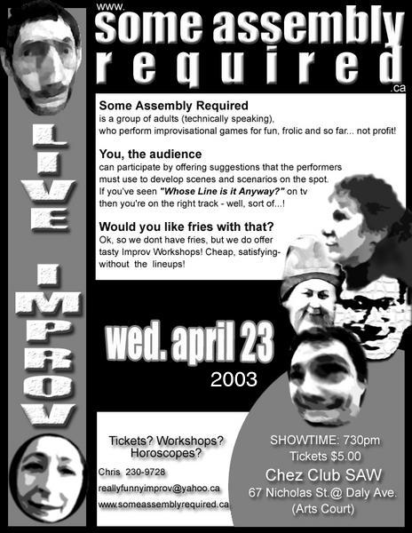 Poster from April 2003 show